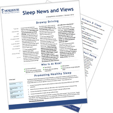 screenshot of Sleep Newsletter