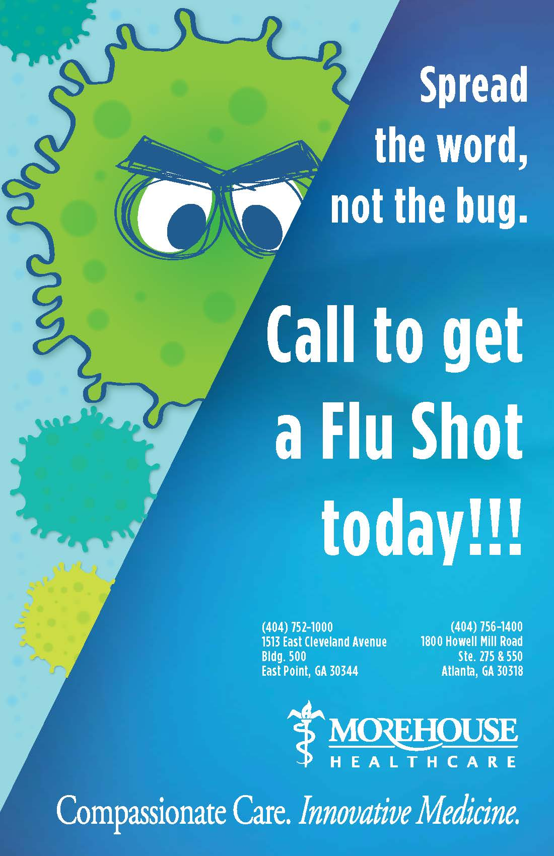 Call to get a flu shot today!